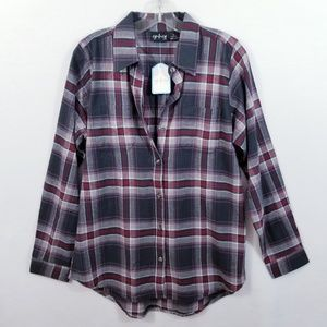 CG I CG Plaid Cotton Flannel Shirt - Size L - NWT
